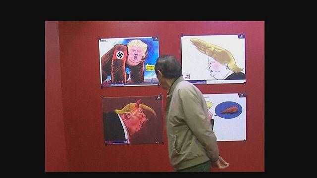 المكسيك: دونالد ترامب في متحف الرسومات الكاريكاتورية