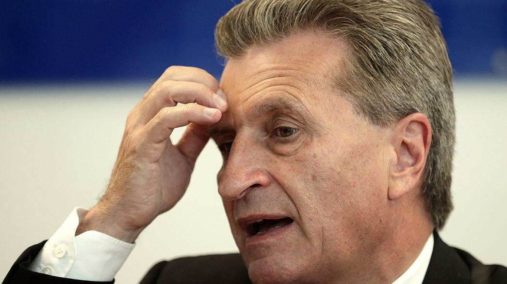 Günther Oettinger s'excuse pour ses propos controversés