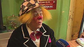 Russia pays tribute to Soviet-era clown Oleg Popov
