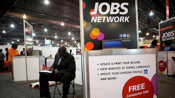 Desemprego desce nos EUA