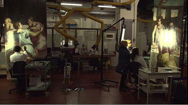 """Nach Hochwasserkatastrophe: Giorgio Vasaris """"Abendmahl"""" kehrt in die """"Opera di Santa Croce"""" zurück"""