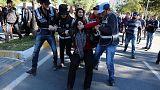 مظاهرات احتجاجية ضد التوقيفات التي طالت أعضاء حزب الشعوب الديمقراطي في تركيا