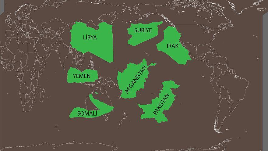 ABD an itibariyle dünyada 7 ülkeyi bombalıyor
