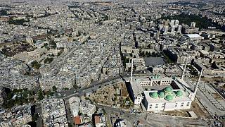 Halep'in doğusundaki yıkım havadan görüntülendi