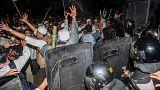 درگیری پلیس اندونزی با معترضان مسلمان
