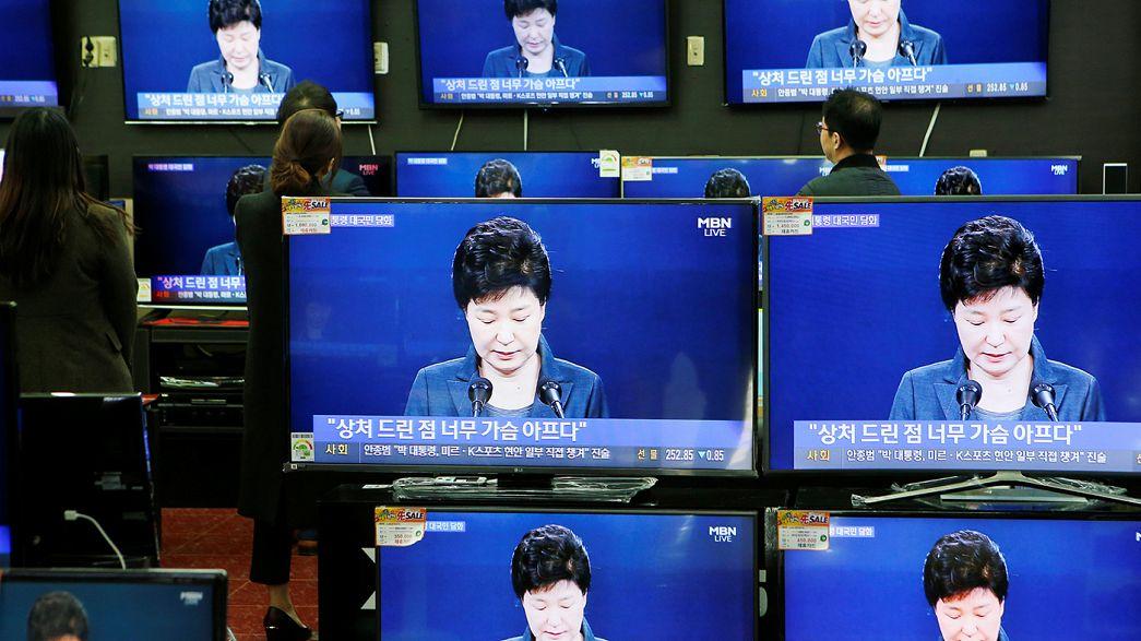 Южная Корея: десятки тысяч манифестантов потребовали отставки президента