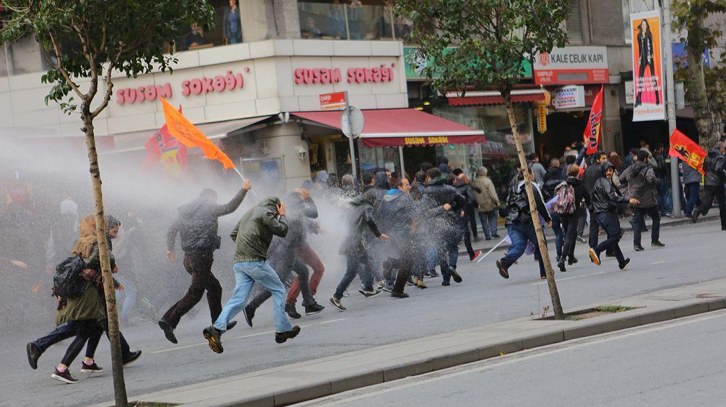 Турцию и Европу охватили акции протеста против ареста турецких оппозиционеров