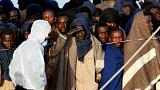 Mediterranean migrants - 800 rescued and brought to Italy