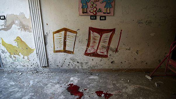 Children killed in airstrike on Damascus nursery
