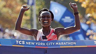Mary Keitany gana el maratón de Nueva York por tercer año consecutivo