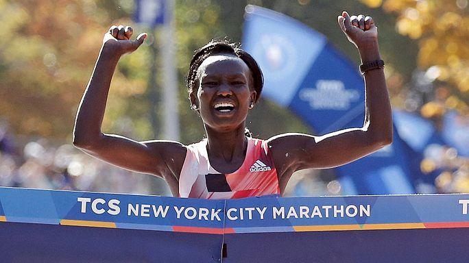 Кейтани и Гебреселассие - победители Нью-Йоркского марафона