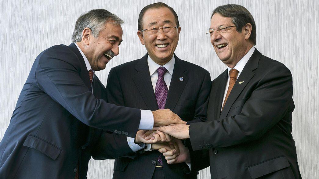 """Ban dice que está """"al alcance"""" un acuerdo para la reunificación de Chipre"""