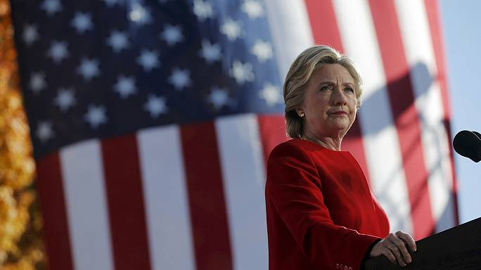 Hillary Clinton raises the volume as she sprints for the finish line