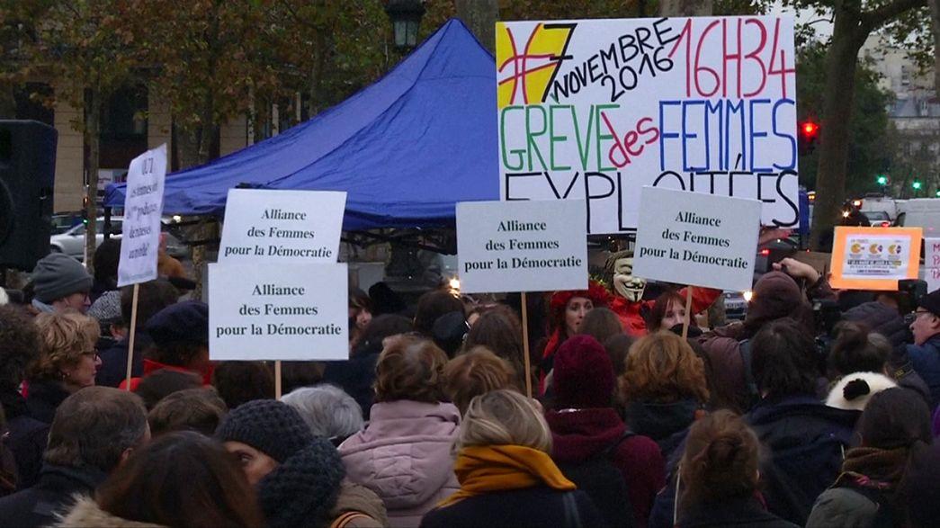 Parisienses saem à rua por igualdade de salário entre homens e mulheres
