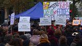 Protest gegen Lohnunterschiede in Frankreich