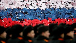 Marcha militar en Moscú