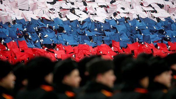 Moskova'da askeri geçiş töreni