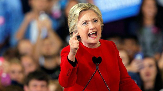 Clinton'ın son mitinginde Lady Gaga ve Bon Jovi sahneye çıktı