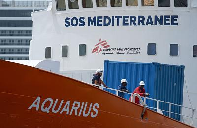 The Aquarius rescue ship arrives in Malta in August.