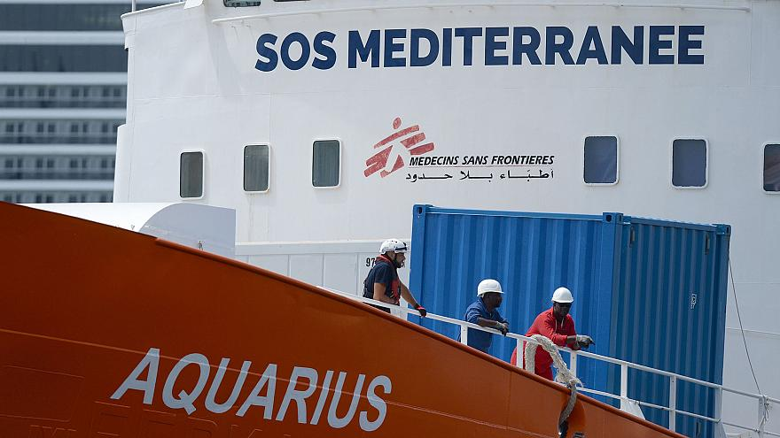 Image: The Aquarius rescue ship arrives in Malta in August