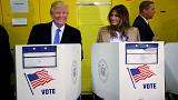 Trump votes in Manhattan as aides claim upset win in sight