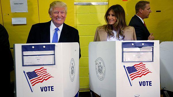 Дональд Трамп проголосовал в центре Манхэттена
