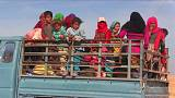 Refugees flee ISIL's Syrian stronghold of Raqqa