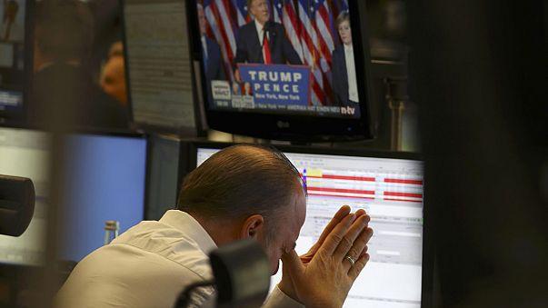 Mercados reagem à vitória de Trump e abrem no vermelho