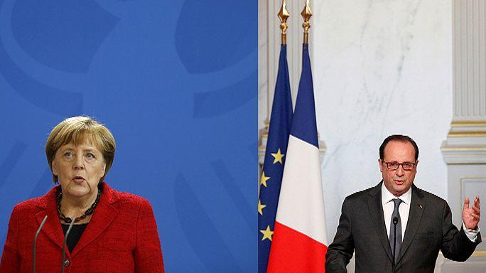 Merkel y Hollande felicitan a Trump, aunque le recuerdan los compromisos con Europa