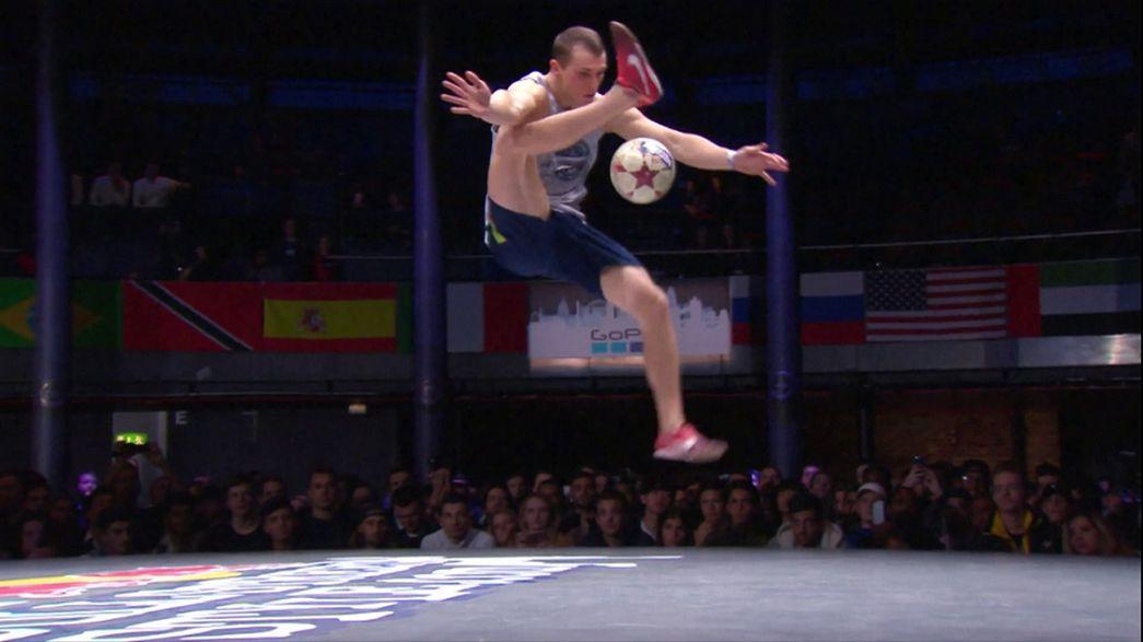 Un Argentin et une Française couronnés en foot freetyle