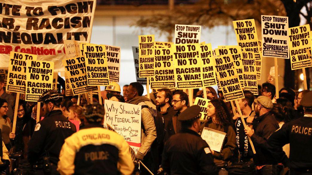 Trump-ellenes tüntetések Amerika több városában