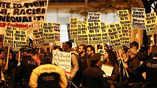 Oleada de protestas anti-Trump en EEUU