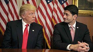 Trump, Temsilciler Meclisi Başkanı Paul Ryan'ı ziyaret etti