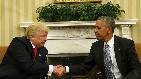 ترامپ و اوباما در اولین دیدار، اتحاد خود را به نمایش گذاشتند