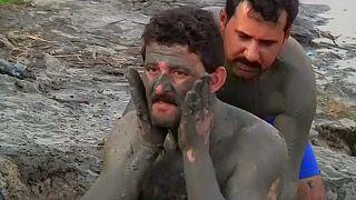 Bain de boue sur les rives du Tigre