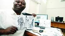 DRC's popular cartoonist Tembo Kashauri mirroring his society