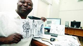 DRC's popular cartoonist Tembo Kashauri mirroring his society