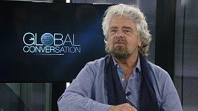 """Beppe Grillo a Euronews: i """"dilettanti"""" si stanno prendendo il mondo"""