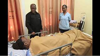 Tanzania president Magufuli visits ailing wife in public hospital