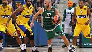 الدوري الأوروبي لكرة السلة ماكابي تل أبيب ينحني أمام باناثينايكوس اليوناني