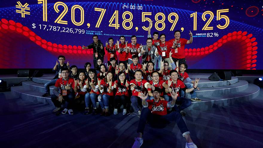 "Sales up but growth slows on China's ""Singles Day"""