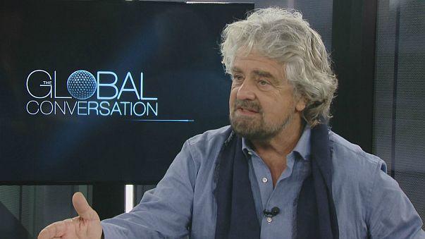 Beppe Grillo'nun Euronews'a yaptığı açıklama İtalya'da tartışma yarattı