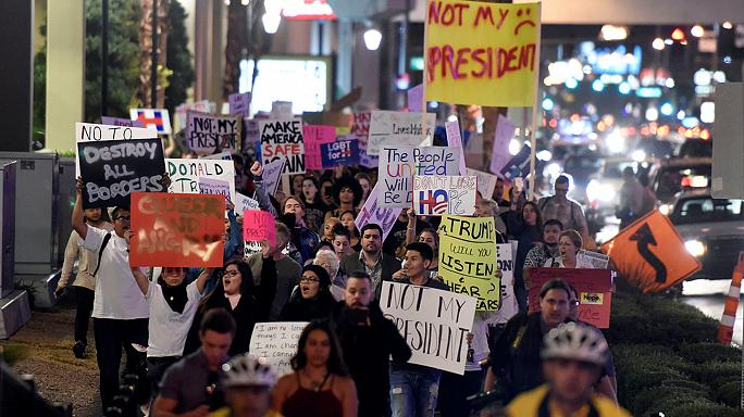 مظاهرات من شرق الولايات المتحدة الى غربها احتجاجا على فوز ترامب