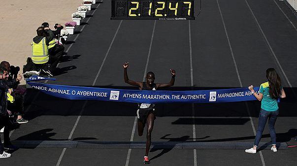 Athen-Marathon: Kenias Rotich Lobuwan und Arusei laufen am schnellsten