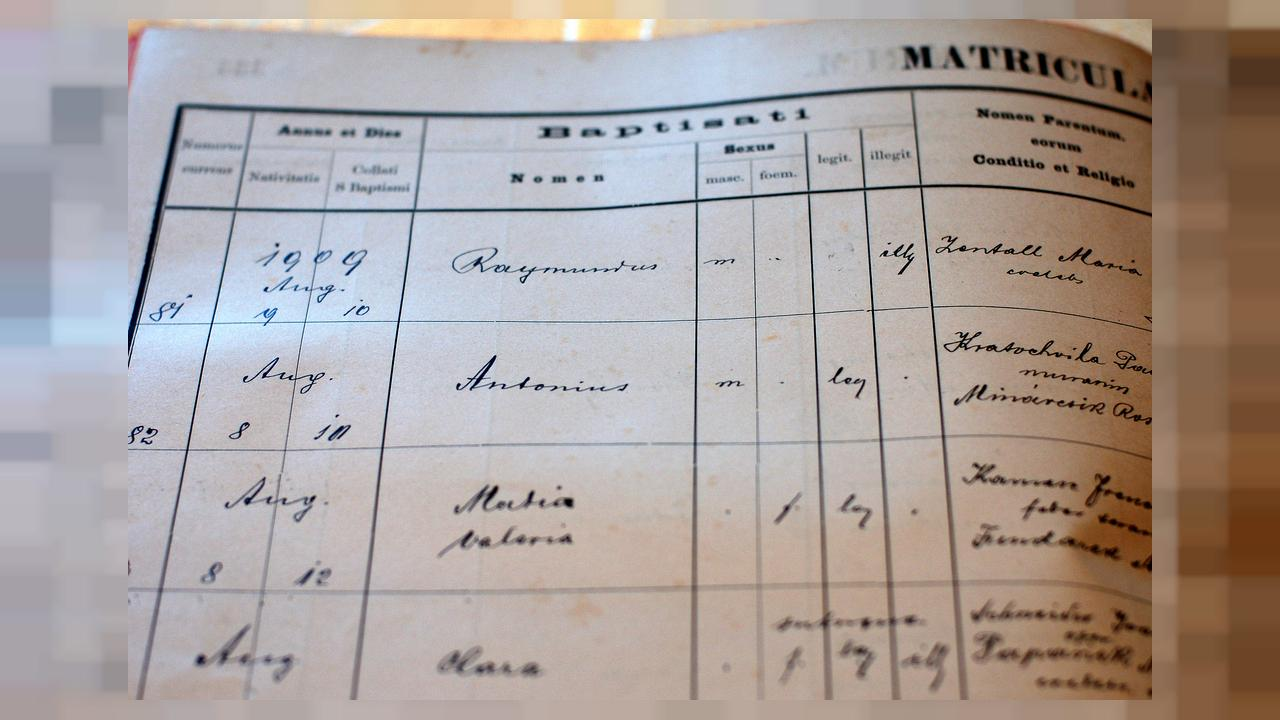 Brian McMahan was able to see his grandfather's baptism records in his home