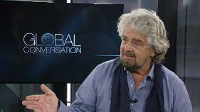 """Beppe Grillo: """"Nunca me imaginaria chefe de governo em Itália"""""""