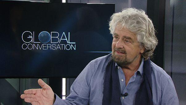 """Grillo: """"los novatos están conquistando el mundo y mi movimiento está listo para gobernar Italia"""""""