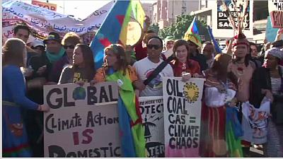 Thousands march for climate justice in Marrakech