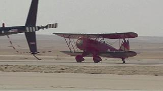 Vintage biplanes stop over in Egypt in unprecedented Greece-South Africa flight