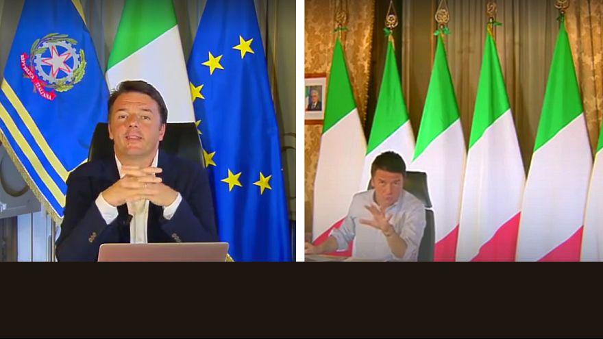 Référendum en Italie : un drapeau européen devenu gênant pour Renzi?